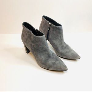 Ivanka Trump Lettie Ankle Boot Gray Suede pointed